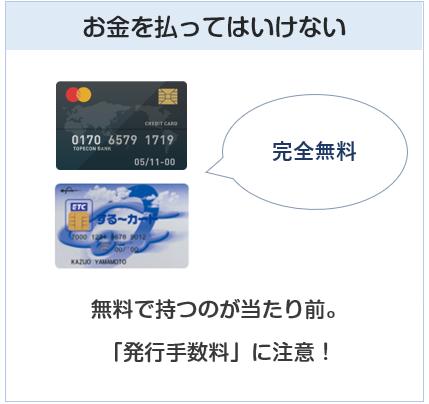 クレジットカード、ETCカードに年会費などお金を払ってはいけない