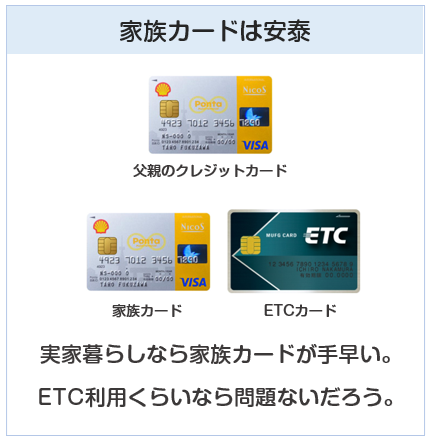 ETCカードを作るなら家族カードが安泰