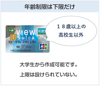 クレジットカードの年齢制限は下限だけ