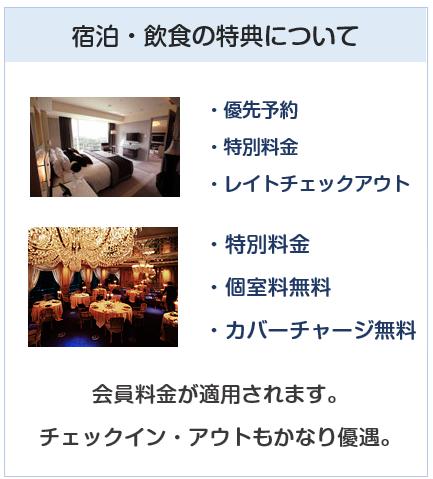ニューオータニクラブ VISAカードの宿泊・飲食特典について