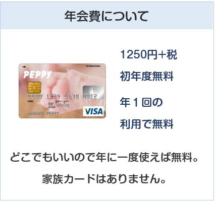 PEPPY VISAカード(ペピィカード)の年会費について