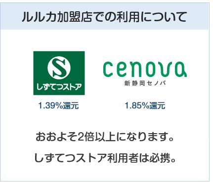LuLuCaプラス(ルルカプラスカード)のLuLuCa加盟店での利用について