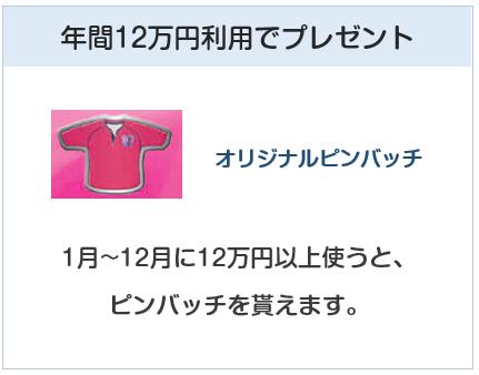 セレッソ大阪VISAカードは年12万円利用でプレゼントあり