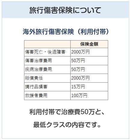 セレッソ大阪VISAカードの旅行傷害保険について