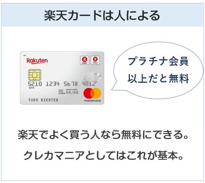 楽天カードはプラチナ会員以上でETCカードを無料にできるなら良い