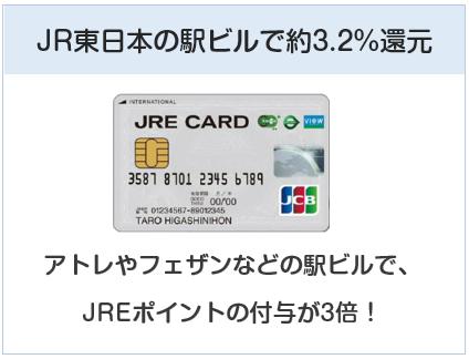 JRE CARDはアトレやフェザンなどで還元率3.2%になるクレジットカード