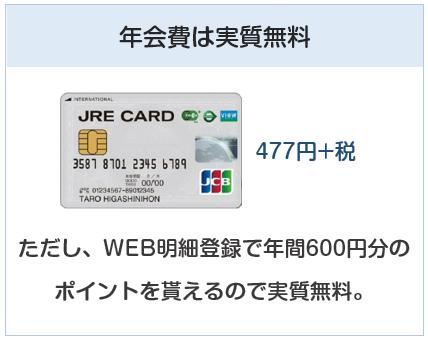 JRE CARDの年会費は実質無料