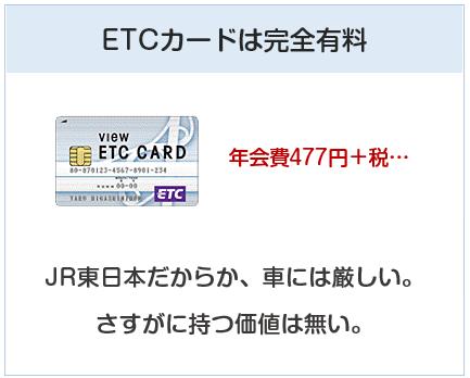 ビューカードはETCカードが年会費有料でくそ高い