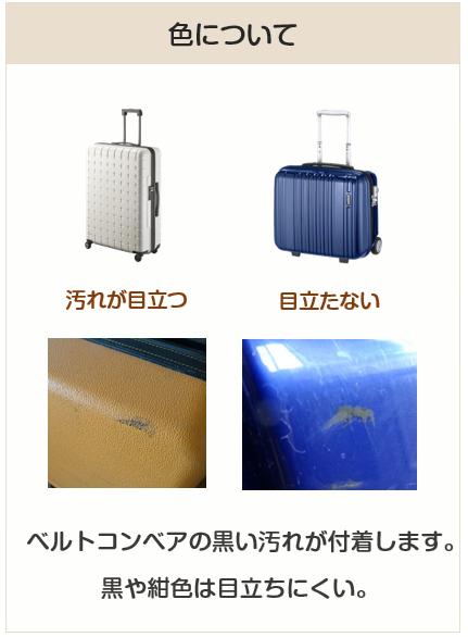 スーツケースの色について