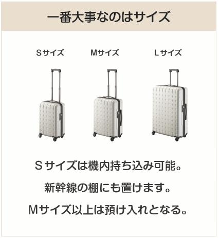 スーツケースの選び方で一番大事なのはサイズ
