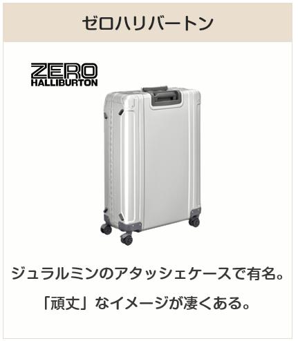 高級スーツケースブランド:ゼロハリバートン