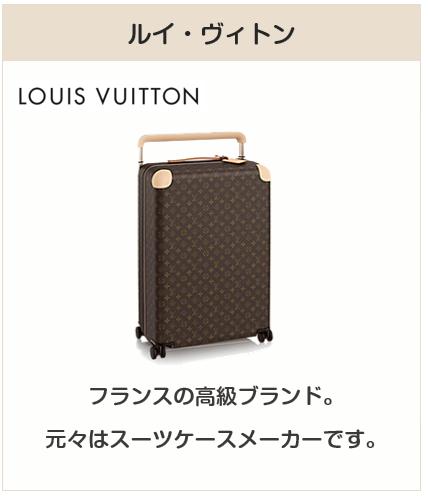 高級スーツケースブランド:ルイ・ヴィトン