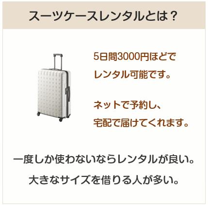 レンタルスーツケースとは