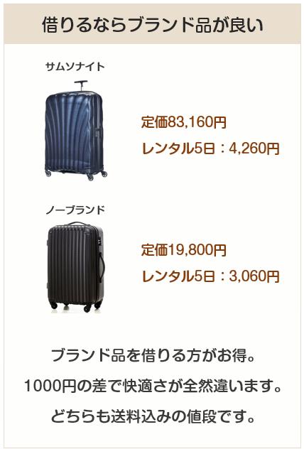 レンタルスーツケース、借りるならブランド品を