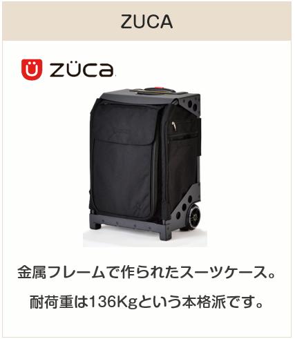 座れるスーツケース:ズーカ